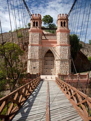 Sucre Bridge, Pilcomayo River, Betantos District, Potosi Region, Bolivia, South America