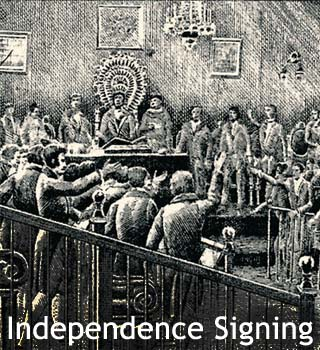 independence signing