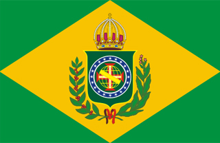 Flag of the second empire of Brazil