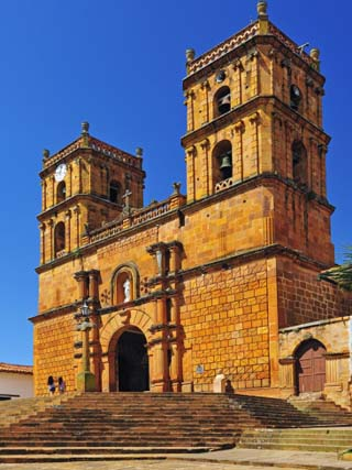 Templo, Colonial Town of Barichara, Colombia, South America