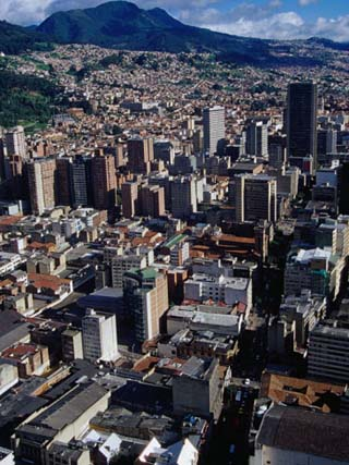 City Centre with South-Eastern Suburbs Visible in Background, Bogota, Colombia