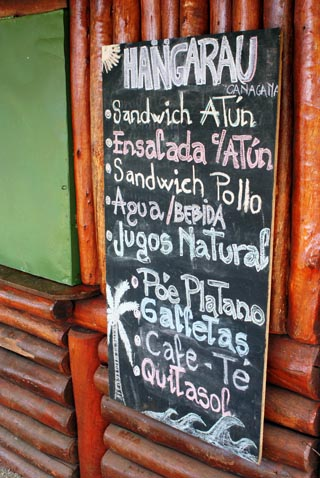 easter island menu