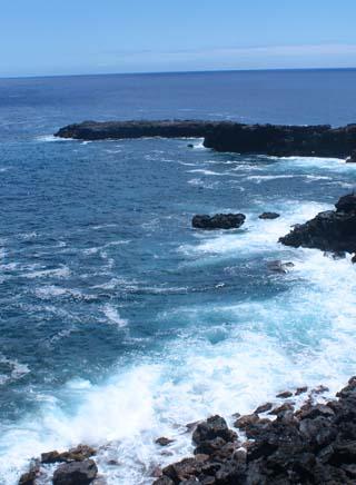 easter island shoreline