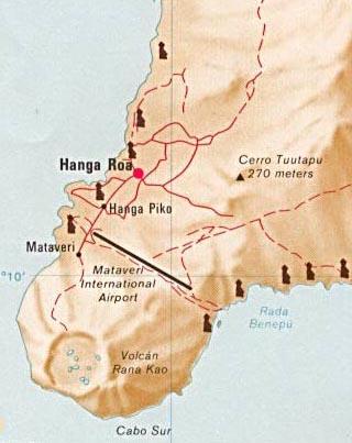 easter island latitude longitude map
