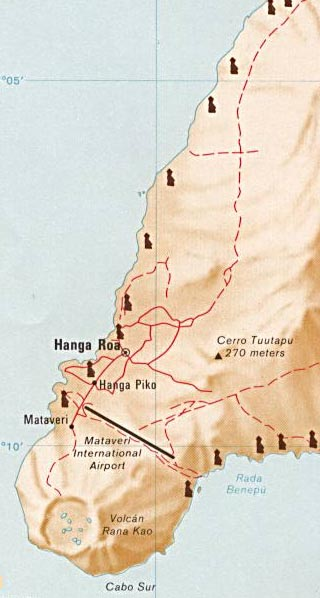 Easter Island Map and Map of Rapa Nui Chile World Atlas