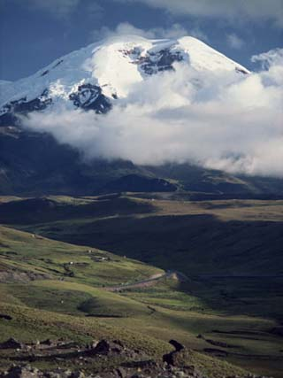 Snow Capped Mount Chimborazo in Ecuador, South America