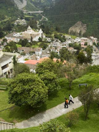 View from the outskirts of downtown Quito, Ecuador