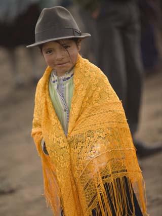 Girl in Traditional Hat, Saquisili, Ecuador