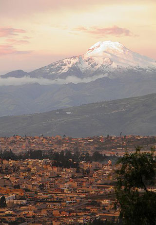 volcano cayambe and quito