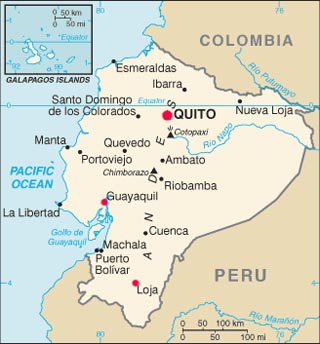 ecuador latitude and longitude map