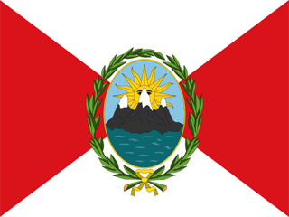 First flag of the republic of Peru