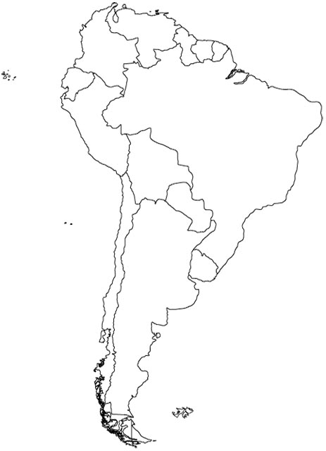 south america map map of south america maps and information on Map Of America