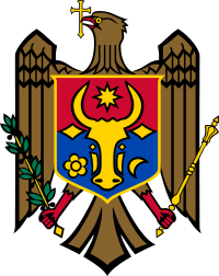 Coat of arms is displayed larger moldova flag moldova coat of arms