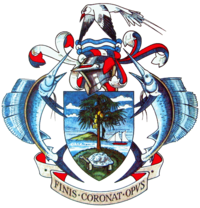 Coat of arms: the seychelles coat of arms consists of a shield